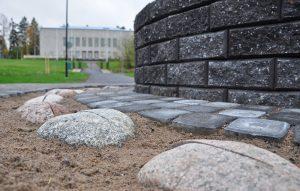 Stenar och stenbeläggning.