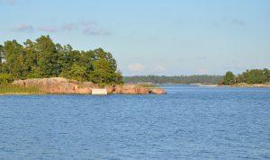 Havet och öar.