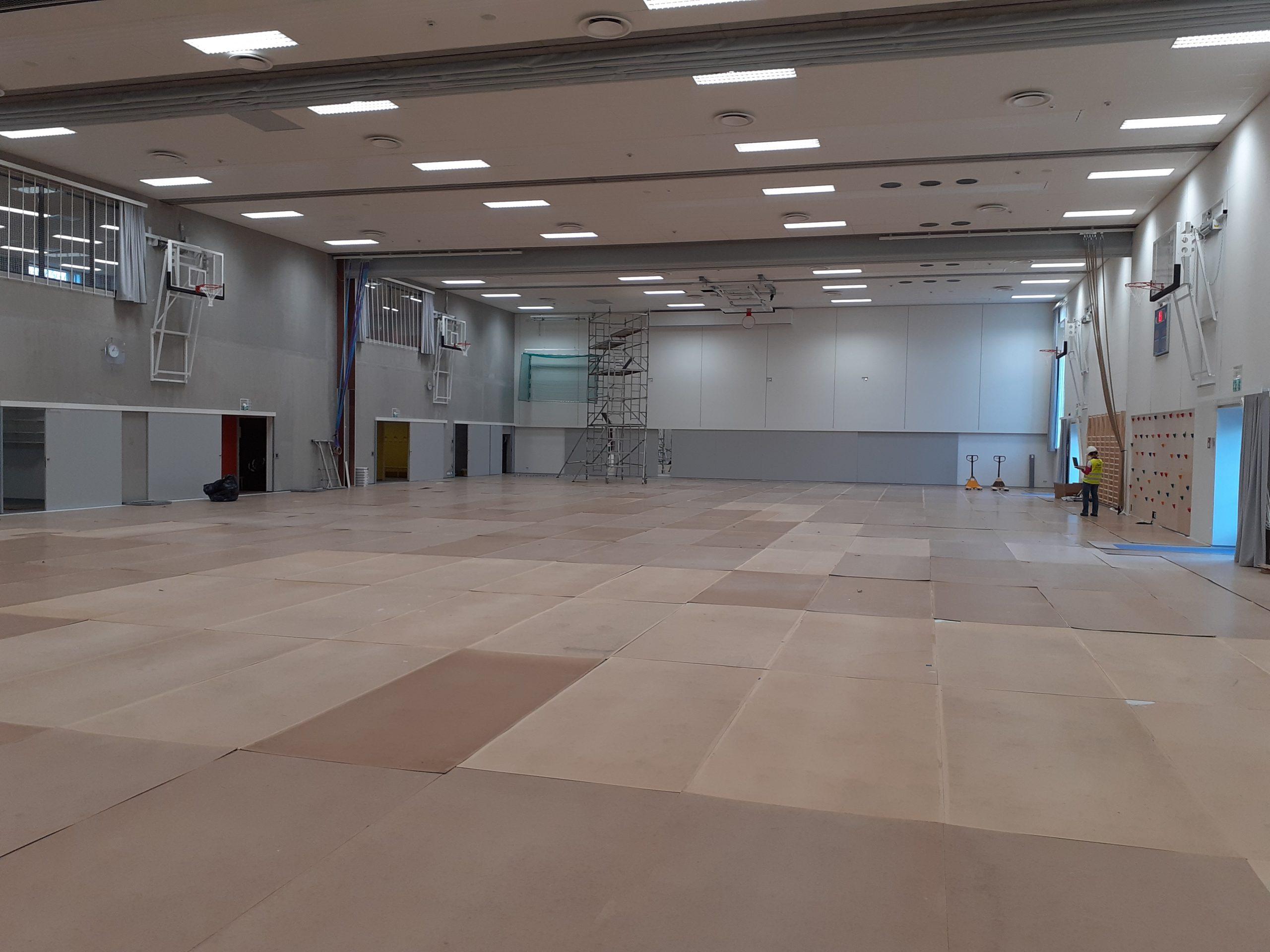 Den nya gymnastiksalen.