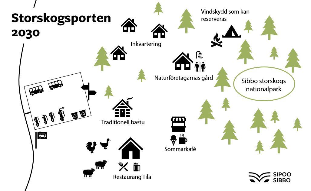 Förslag till karta över Storskogsporten.