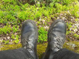 Bild av skor som lämpar sig för vandring.